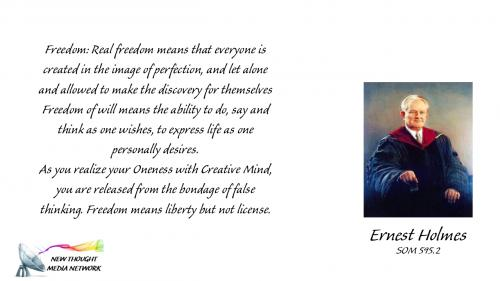 Holmes Glossary FREEDOM